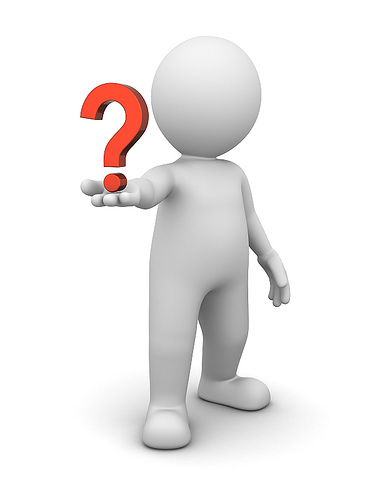 Icon of person holding question
