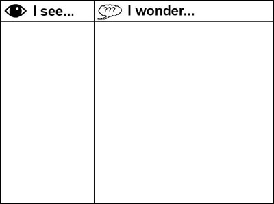 image of I See, I Wonder organizer