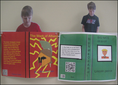 Printout of boys and their book reviews